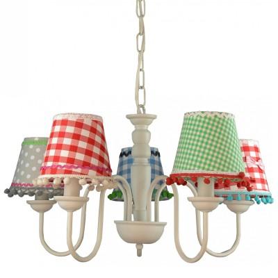 Люстра для детской Arte lamp A5165LM-5WH ProvenceПодвесные<br>Компания «Светодом» предлагает широкий ассортимент люстр от известных производителей. Представленные в нашем каталоге товары выполнены из современных материалов и обладают отличным качеством. Благодаря широкому ассортименту Вы сможете найти у нас люстру под любой интерьер. Мы предлагаем как классические варианты, так и современные модели, отличающиеся лаконичностью и простотой форм. <br>Стильная люстра Arte lamp A5165LM-5WH станет украшением любого дома. Эта модель от известного производителя не оставит равнодушным ценителей красивых и оригинальных предметов интерьера. Люстра Arte lamp A5165LM-5WH обеспечит равномерное распределение света по всей комнате. При выборе обратите внимание на характеристики, позволяющие приобрести наиболее подходящую модель. <br>Купить понравившуюся люстру по доступной цене Вы можете в интернет-магазине «Светодом».<br><br>Установка на натяжной потолок: Да<br>S освещ. до, м2: 10<br>Крепление: Крюк<br>Тип лампы: накаливания / энергосбережения / LED-светодиодная<br>Тип цоколя: E14<br>Количество ламп: 5<br>Ширина, мм: 550<br>MAX мощность ламп, Вт: 40<br>Диаметр, мм мм: 550<br>Длина цепи/провода, мм: 940<br>Высота, мм: 380<br>Цвет арматуры: белый