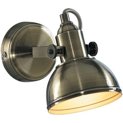 Светильник спот Arte lamp A5213AP-1AB MartinМорской стиль<br><br><br>S освещ. до, м2: 3<br>Тип лампы: накаливания / энергосбережения / LED-светодиодная<br>Тип цоколя: E14<br>Количество ламп: 1<br>Ширина, мм: 120<br>MAX мощность ламп, Вт: 40<br>Диаметр, мм мм: 230<br>Расстояние от стены, мм: 230<br>Высота, мм: 190<br>Цвет арматуры: бронзовый