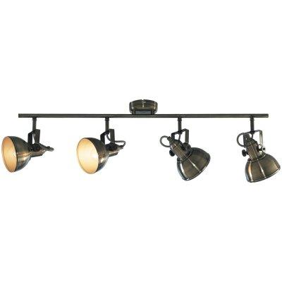 Светильник спот Arte lamp A5215PL-4AB MartinПотолочные<br>Компания «Светодом» предлагает широкий ассортимент люстр от известных производителей. Представленные в нашем каталоге товары выполнены из современных материалов и обладают отличным качеством. Благодаря широкому ассортименту Вы сможете найти у нас люстру под любой интерьер. Мы предлагаем как классические варианты, так и современные модели, отличающиеся лаконичностью и простотой форм. <br>Стильная люстра Arte lamp A5215PL-4AB станет украшением любого дома. Эта модель от известного производителя не оставит равнодушным ценителей красивых и оригинальных предметов интерьера. Люстра Arte lamp A5215PL-4AB обеспечит равномерное распределение света по всей комнате. При выборе обратите внимание на характеристики, позволяющие приобрести наиболее подходящую модель. <br>Купить понравившуюся люстру по доступной цене Вы можете в интернет-магазине «Светодом».<br><br>Установка на натяжной потолок: Да<br>S освещ. до, м2: 11<br>Крепление: Планка<br>Тип лампы: накаливания / энергосбережения / LED-светодиодная<br>Тип цоколя: E14<br>Количество ламп: 4<br>Ширина, мм: 120<br>MAX мощность ламп, Вт: 40<br>Диаметр, мм мм: 800<br>Длина, мм: 500<br>Высота, мм: 220<br>Цвет арматуры: бронзовый
