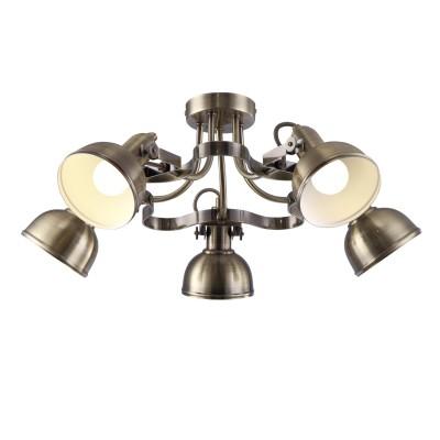 Светильник Arte lamp A5216PL-5AB MartinПотолочные<br>Компания «Светодом» предлагает широкий ассортимент люстр от известных производителей. Представленные в нашем каталоге товары выполнены из современных материалов и обладают отличным качеством. Благодаря широкому ассортименту Вы сможете найти у нас люстру под любой интерьер. Мы предлагаем как классические варианты, так и современные модели, отличающиеся лаконичностью и простотой форм. <br>Стильная люстра Arte lamp A5216PL-5AB станет украшением любого дома. Эта модель от известного производителя не оставит равнодушным ценителей красивых и оригинальных предметов интерьера. Люстра Arte lamp A5216PL-5AB обеспечит равномерное распределение света по всей комнате. При выборе обратите внимание на характеристики, позволяющие приобрести наиболее подходящую модель. <br>Купить понравившуюся люстру по доступной цене Вы можете в интернет-магазине «Светодом».<br><br>Установка на натяжной потолок: Да<br>S освещ. до, м2: 10<br>Крепление: Планка<br>Тип лампы: накаливания / энергосбережения / LED-светодиодная<br>Тип цоколя: E14<br>Цвет арматуры: бронзовый<br>Количество ламп: 5<br>Диаметр, мм мм: 600<br>Высота, мм: 250<br>MAX мощность ламп, Вт: 40