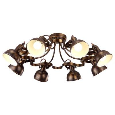 Светильник Arte lamp A5216PL-8BR MartinПотолочные<br>Компания «Светодом» предлагает широкий ассортимент люстр от известных производителей. Представленные в нашем каталоге товары выполнены из современных материалов и обладают отличным качеством. Благодаря широкому ассортименту Вы сможете найти у нас люстру под любой интерьер. Мы предлагаем как классические варианты, так и современные модели, отличающиеся лаконичностью и простотой форм.  Стильная люстра Arte lamp A5216PL-8BR станет украшением любого дома. Эта модель от известного производителя не оставит равнодушным ценителей красивых и оригинальных предметов интерьера. Люстра Arte lamp A5216PL-8BR обеспечит равномерное распределение света по всей комнате. При выборе обратите внимание на характеристики, позволяющие приобрести наиболее подходящую модель. Купить понравившуюся люстру по доступной цене Вы можете в интернет-магазине «Светодом». Мы предлагаем доставку не только по Москве и Екатеринбурге, но и по всей России.<br><br>Установка на натяжной потолок: Да<br>S освещ. до, м2: 16<br>Крепление: Планка<br>Тип лампы: накал-я - энергосбер-я<br>Тип цоколя: E14<br>Количество ламп: 8<br>MAX мощность ламп, Вт: 40<br>Диаметр, мм мм: 730<br>Высота, мм: 250<br>Цвет арматуры: коричневый