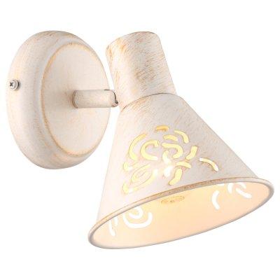 Светильник бра Arte lamp A5218AP-1WG ConoОдиночные<br><br><br>Тип товара: Светильник бра<br>Тип лампы: накал-я - энергосбер-я<br>Тип цоколя: E14<br>Количество ламп: 1<br>Ширина, мм: 130<br>MAX мощность ламп, Вт: 40<br>Длина, мм: 180<br>Высота, мм: 170<br>Цвет арматуры: белый с золотистой патиной