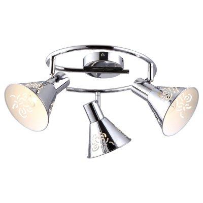 Светильник Arte lamp A5218PL-3CC ConoТройные<br>Светильники-споты – это оригинальные изделия с современным дизайном. Они позволяют не ограничивать свою фантазию при выборе освещения для интерьера. Такие модели обеспечивают достаточно качественный свет. Благодаря компактным размерам Вы можете использовать несколько спотов для одного помещения.  Интернет-магазин «Светодом» предлагает необычный светильник-спот ARTE Lamp A5218PL-3CC по привлекательной цене. Эта модель станет отличным дополнением к люстре, выполненной в том же стиле. Перед оформлением заказа изучите характеристики изделия.  Купить светильник-спот ARTE Lamp A5218PL-3CC в нашем онлайн-магазине Вы можете либо с помощью формы на сайте, либо по указанным выше телефонам. Обратите внимание, что у нас склады не только в Москве и Екатеринбурге, но и других городах России.<br><br>Тип лампы: накал-я - энергосбер-я<br>Тип цоколя: E14<br>Количество ламп: 3<br>MAX мощность ламп, Вт: 40<br>Диаметр, мм мм: 840<br>Высота, мм: 220<br>Цвет арматуры: серебристый