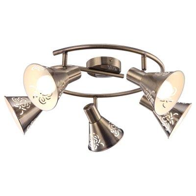 Светильник Arte lamp A5218PL-5AB ConoПоворотные<br>Компания «Светодом» предлагает широкий ассортимент люстр от известных производителей. Представленные в нашем каталоге товары выполнены из современных материалов и обладают отличным качеством. Благодаря широкому ассортименту Вы сможете найти у нас люстру под любой интерьер. Мы предлагаем как классические варианты, так и современные модели, отличающиеся лаконичностью и простотой форм.  Стильная люстра Arte lamp A5218PL-5AB станет украшением любого дома. Эта модель от известного производителя не оставит равнодушным ценителей красивых и оригинальных предметов интерьера. Люстра Arte lamp A5218PL-5AB обеспечит равномерное распределение света по всей комнате. При выборе обратите внимание на характеристики, позволяющие приобрести наиболее подходящую модель. Купить понравившуюся люстру по доступной цене Вы можете в интернет-магазине «Светодом».<br><br>Установка на натяжной потолок: Да<br>S освещ. до, м2: 10<br>Крепление: Планка<br>Тип лампы: Накаливания / энергосбережения / светодиодная<br>Тип цоколя: E14<br>Количество ламп: 5<br>MAX мощность ламп, Вт: 40<br>Диаметр, мм мм: 650<br>Высота, мм: 220<br>Цвет арматуры: бронзовый