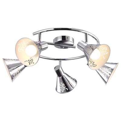 Светильник Arte lamp A5218PL-5CC ConoПоворотные<br>Компания «Светодом» предлагает широкий ассортимент люстр от известных производителей. Представленные в нашем каталоге товары выполнены из современных материалов и обладают отличным качеством. Благодаря широкому ассортименту Вы сможете найти у нас люстру под любой интерьер. Мы предлагаем как классические варианты, так и современные модели, отличающиеся лаконичностью и простотой форм.  Стильная люстра Arte lamp A5218PL-5CC станет украшением любого дома. Эта модель от известного производителя не оставит равнодушным ценителей красивых и оригинальных предметов интерьера. Люстра Arte lamp A5218PL-5CC обеспечит равномерное распределение света по всей комнате. При выборе обратите внимание на характеристики, позволяющие приобрести наиболее подходящую модель. Купить понравившуюся люстру по доступной цене Вы можете в интернет-магазине «Светодом».<br><br>Установка на натяжной потолок: Да<br>S освещ. до, м2: 10<br>Крепление: Планка<br>Тип лампы: LED<br>Тип цоколя: E14<br>Цвет арматуры: серебристый<br>Количество ламп: 5<br>Диаметр, мм мм: 650<br>Высота, мм: 220<br>MAX мощность ламп, Вт: 40