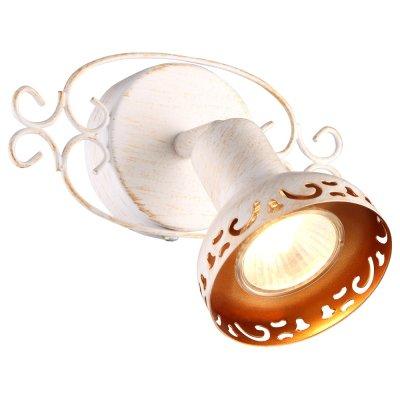 Светильник спот Arte lamp A5219AP-1WG FOCUSМодерн<br><br><br>Тип лампы: галогенная/LED<br>Тип цоколя: GU10<br>Количество ламп: 1<br>Ширина, мм: 140<br>MAX мощность ламп, Вт: 35<br>Длина, мм: 160<br>Высота, мм: 140<br>Цвет арматуры: белый с золотистой патиной