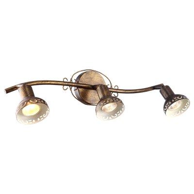 Светильник Arte lamp A5219PL-3BR FocusТройные<br>Светильники-споты – это оригинальные изделия с современным дизайном. Они позволяют не ограничивать свою фантазию при выборе освещения для интерьера. Такие модели обеспечивают достаточно качественный свет. Благодаря компактным размерам Вы можете использовать несколько спотов для одного помещения.  Интернет-магазин «Светодом» предлагает необычный светильник-спот ARTE Lamp A5219PL-3BR по привлекательной цене. Эта модель станет отличным дополнением к люстре, выполненной в том же стиле. Перед оформлением заказа изучите характеристики изделия.  Купить светильник-спот ARTE Lamp A5219PL-3BR в нашем онлайн-магазине Вы можете либо с помощью формы на сайте, либо по указанным выше телефонам. Обратите внимание, что у нас склады не только в Москве и Екатеринбурге, но и других городах России.<br><br>S освещ. до, м2: 6<br>Тип лампы: накал-я - энергосбер-я<br>Тип цоколя: GU10<br>Цвет арматуры: бронзовый<br>Количество ламп: 3<br>Ширина, мм: 160<br>Длина, мм: 540<br>Высота, мм: 160<br>MAX мощность ламп, Вт: 35