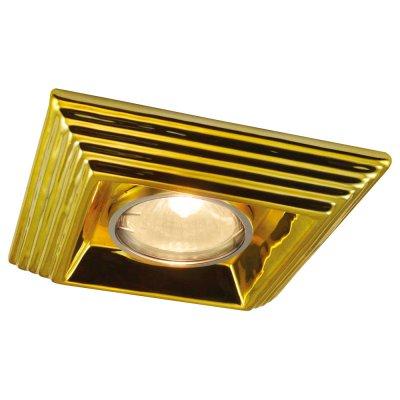 Светильник Arte lamp A5249PL-1GO AlloroКвадратные<br><br><br>S освещ. до, м2: 4<br>Тип товара: точечный встраиваемый светильник<br>Тип лампы: галогенная<br>Тип цоколя: GU10<br>Количество ламп: 1<br>Ширина, мм: 120<br>MAX мощность ламп, Вт: 50<br>Диаметр, мм мм: 120<br>Диаметр врезного отверстия, мм: 60<br>Высота, мм: 110