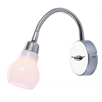 Светильник настенный бра Arte lamp A5271AP-1CC LETTURAГибкие<br><br><br>Тип цоколя: G9<br>Цвет арматуры: серебристый<br>Количество ламп: 1<br>Размеры: H17xW8xL13<br>MAX мощность ламп, Вт: 33