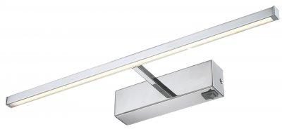 Светильник настенный бра Arte lamp A5308AP-1CC PICTURE LIGHTS LEDДля картин/зеркал<br><br><br>Тип товара: Светильник настенный бра<br>Тип лампы: LED<br>Количество ламп: 1<br>MAX мощность ламп, Вт: 8<br>Размеры: H8xW13xL45,2<br>Цвет арматуры: серебристый