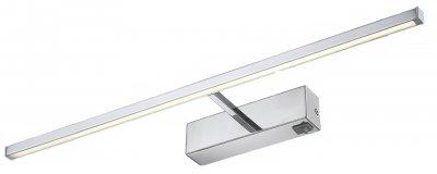Светильник настенный бра Arte lamp A5312AP-1CC PICTURE LIGHTS LEDДля картин<br><br><br>Тип лампы: LED<br>Тип цоколя: LED<br>Цвет арматуры: серебристый<br>Количество ламп: 1<br>Размеры: H8xW13xL59,5<br>MAX мощность ламп, Вт: 12