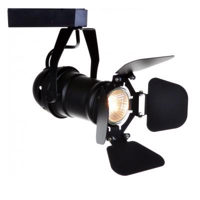Светильник потолочный Arte lamp A5319PL-1BK TRACK LIGHTSСветильники для трека<br><br><br>Тип цоколя: GU10<br>Цвет арматуры: черный<br>Размеры: H22xW10xL19<br>MAX мощность ламп, Вт: 50