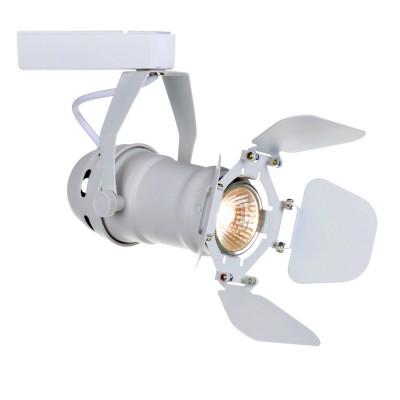 Светильник потолочный Arte lamp A5319PL-1WH TRACK LIGHTSСветильники для трека<br><br><br>Тип цоколя: GU10<br>Цвет арматуры: белый<br>Размеры: H22xW10xL19<br>MAX мощность ламп, Вт: 50