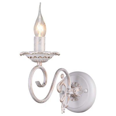 Светильник Arte lamp A5333AP-1WG TillyКлассические<br><br><br>Тип лампы: накал-я - энергосбер-я<br>Тип цоколя: E14<br>Количество ламп: 1<br>Ширина, мм: 120<br>MAX мощность ламп, Вт: 40<br>Длина, мм: 270<br>Высота, мм: 230<br>Цвет арматуры: белый с золотистой патиной