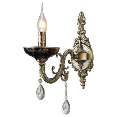 Светильник Arte lamp A5335AP-1BA DubaiКлассические<br><br><br>Тип лампы: накал-я - энергосбер-я<br>Тип цоколя: E14<br>Цвет арматуры: бронзовый<br>Количество ламп: 1<br>Ширина, мм: 120<br>Длина, мм: 270<br>Высота, мм: 370<br>MAX мощность ламп, Вт: 40