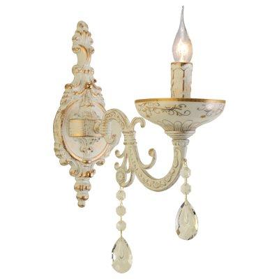 Светильник Arte lamp A5335AP-1WG DubaiКлассические<br><br><br>Тип лампы: накал-я - энергосбер-я<br>Тип цоколя: E14<br>Количество ламп: 1<br>Ширина, мм: 120<br>MAX мощность ламп, Вт: 40<br>Длина, мм: 270<br>Высота, мм: 370<br>Цвет арматуры: белый с золотистой патиной
