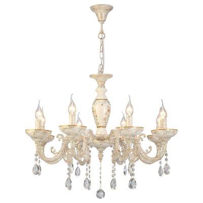 Светильник Arte lamp A5335LM-8WG DubaiПодвесные<br>Компания «Светодом» предлагает широкий ассортимент люстр от известных производителей. Представленные в нашем каталоге товары выполнены из современных материалов и обладают отличным качеством. Благодаря широкому ассортименту Вы сможете найти у нас люстру под любой интерьер. Мы предлагаем как классические варианты, так и современные модели, отличающиеся лаконичностью и простотой форм.  Стильная люстра Arte lamp A5335LM-8WG станет украшением любого дома. Эта модель от известного производителя не оставит равнодушным ценителей красивых и оригинальных предметов интерьера. Люстра Arte lamp A5335LM-8WG обеспечит равномерное распределение света по всей комнате. При выборе обратите внимание на характеристики, позволяющие приобрести наиболее подходящую модель. Купить понравившуюся люстру по доступной цене Вы можете в интернет-магазине «Светодом».<br><br>Установка на натяжной потолок: Да<br>S освещ. до, м2: 16<br>Крепление: Крюк<br>Тип лампы: накал-я - энергосбер-я<br>Тип цоколя: E14<br>Количество ламп: 8<br>MAX мощность ламп, Вт: 40<br>Диаметр, мм мм: 760<br>Высота, мм: 580<br>Цвет арматуры: белый с золотистой патиной