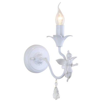 Светильник Arte lamp A5349AP-1WHФлористика<br><br><br>Тип лампы: Накаливания / энергосбережения / светодиодная<br>Тип цоколя: E14<br>Количество ламп: 1<br>Ширина, мм: 120<br>MAX мощность ламп, Вт: 40<br>Длина, мм: 220<br>Высота, мм: 230<br>Цвет арматуры: белый