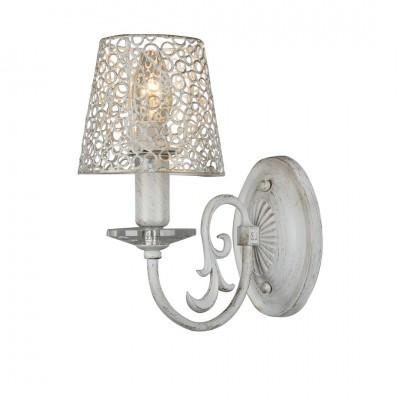 Светильник Arte lamp A5468AP-1WG RAGNATELAсовременные бра модерн<br><br><br>Тип лампы: Накаливания / энергосбережения / светодиодная<br>Тип цоколя: E27<br>Цвет арматуры: белый с золотистой патиной<br>Количество ламп: 1<br>Размеры: H25xW23xL23<br>MAX мощность ламп, Вт: 60