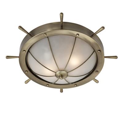 Светильник штурвал Arte lamp A5500PL-2AB WHEELПотолочные<br>Компания «Светодом» предлагает широкий ассортимент люстр от известных производителей. Представленные в нашем каталоге товары выполнены из современных материалов и обладают отличным качеством. Благодаря широкому ассортименту Вы сможете найти у нас люстру под любой интерьер. Мы предлагаем как классические варианты, так и современные модели, отличающиеся лаконичностью и простотой форм.  Стильная люстра Arte lamp A5500PL-2AB станет украшением любого дома. Эта модель от известного производителя не оставит равнодушным ценителей красивых и оригинальных предметов интерьера. Люстра Arte lamp A5500PL-2AB обеспечит равномерное распределение света по всей комнате. При выборе обратите внимание на характеристики, позволяющие приобрести наиболее подходящую модель. Купить понравившуюся люстру по доступной цене Вы можете в интернет-магазине «Светодом».<br><br>Установка на натяжной потолок: Ограничено<br>S освещ. до, м2: 4<br>Крепление: Планка<br>Тип цоколя: E14<br>Количество ламп: 2<br>MAX мощность ламп, Вт: 40<br>Диаметр, мм мм: 420<br>Высота, мм: 120<br>Цвет арматуры: бронзовый