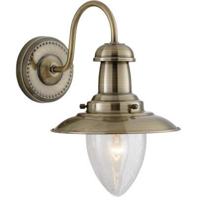 Светильник бра Arte Lamp A5518AP-1AB FishermanМорской стиль<br><br><br>S освещ. до, м2: 4<br>Тип товара: Светильник настенный бра<br>Тип лампы: накаливания / энергосбережения / LED-светодиодная<br>Тип цоколя: E27<br>Количество ламп: 1<br>Ширина, мм: 180<br>MAX мощность ламп, Вт: 60<br>Диаметр, мм мм: 250<br>Высота, мм: 260<br>Цвет арматуры: бронзовый