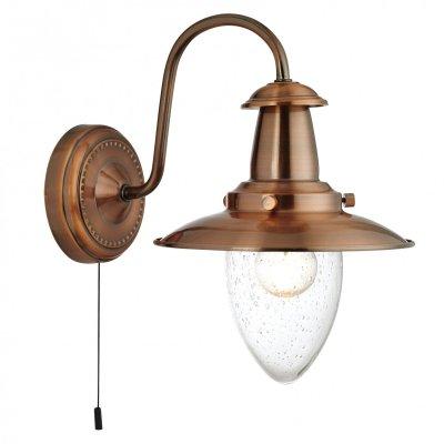 Бра Arte lamp A5518AP-1RB FishermanМорской стиль<br><br><br>S освещ. до, м2: 3<br>Тип лампы: накаливания / энергосбережения / LED-светодиодная<br>Тип цоколя: E27<br>Количество ламп: 1<br>Ширина, мм: 180<br>MAX мощность ламп, Вт: 60<br>Длина, мм: 260<br>Высота, мм: 260<br>Оттенок (цвет): Прозрачный<br>Цвет арматуры: бронзовый