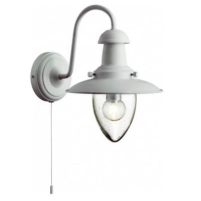 Светильник настенный бра Arte lamp A5518AP-1WH Fishermanбра в морском стиле<br><br><br>Цвет арматуры: белый<br>Количество ламп: 1<br>Размеры: H26xW18xL0<br>MAX мощность ламп, Вт: 40