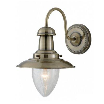 Светильник бра Arte Lamp A5518AP-1AB FishermanМорской стиль<br><br><br>S освещ. до, м2: 4<br>Тип лампы: накаливания / энергосбережения / LED-светодиодная<br>Тип цоколя: E27<br>Количество ламп: 1<br>Ширина, мм: 180<br>MAX мощность ламп, Вт: 60<br>Диаметр, мм мм: 250<br>Высота, мм: 260<br>Цвет арматуры: бронзовый