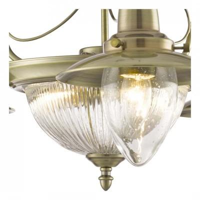 Подвесная люстра Arte lamp A5518LM-2-3AB FishermanПодвесные<br><br><br>Установка на натяжной потолок: Да<br>S освещ. до, м2: 15<br>Крепление: Планка<br>Тип товара: Люстра подвесная<br>Тип лампы: накаливания / энергосбережения / LED-светодиодная<br>Тип цоколя: E27<br>Количество ламп: 5<br>MAX мощность ламп, Вт: 60<br>Диаметр, мм мм: 640<br>Длина цепи/провода, мм: 550<br>Высота, мм: 380<br>Оттенок (цвет): Прозрачный<br>Цвет арматуры: бронзовый