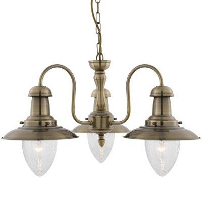 Люстра в морском стиле Arte Lamp A5518LM-3AB FishermanПодвесные<br><br><br>Установка на натяжной потолок: Да<br>S освещ. до, м2: 12<br>Крепление: Крюк<br>Тип товара: Люстра подвесная<br>Тип лампы: накаливания / энергосбережения / LED-светодиодная<br>Тип цоколя: E27<br>Количество ламп: 3<br>Ширина, мм: 520<br>MAX мощность ламп, Вт: 60<br>Диаметр, мм мм: 520<br>Длина цепи/провода, мм: 540<br>Высота, мм: 330<br>Цвет арматуры: бронзовый