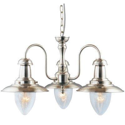 Люстра Arte Lamp A5518LM-3SS FishermanПодвесные<br>Компания «Светодом» предлагает широкий ассортимент люстр от известных производителей. Представленные в нашем каталоге товары выполнены из современных материалов и обладают отличным качеством. Благодаря широкому ассортименту Вы сможете найти у нас люстру под любой интерьер. Мы предлагаем как классические варианты, так и современные модели, отличающиеся лаконичностью и простотой форм. <br>Стильная люстра Arte lamp A5518LM-3SS станет украшением любого дома. Эта модель от известного производителя не оставит равнодушным ценителей красивых и оригинальных предметов интерьера. Люстра Arte lamp A5518LM-3SS обеспечит равномерное распределение света по всей комнате. При выборе обратите внимание на характеристики, позволяющие приобрести наиболее подходящую модель. <br>Купить понравившуюся люстру по доступной цене Вы можете в интернет-магазине «Светодом».<br><br>Установка на натяжной потолок: Да<br>S освещ. до, м2: 12<br>Крепление: Крюк<br>Тип лампы: накаливания / энергосбережения / LED-светодиодная<br>Тип цоколя: E27<br>Цвет арматуры: серый<br>Количество ламп: 3<br>Ширина, мм: 520<br>Диаметр, мм мм: 520<br>Длина цепи/провода, мм: 540<br>Высота, мм: 330<br>MAX мощность ламп, Вт: 60