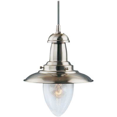 Светильник Arte lamp A5518SP-1SS FishermanОдиночные<br>Компания «Светодом» предлагает широкий ассортимент люстр от известных производителей. Представленные в нашем каталоге товары выполнены из современных материалов и обладают отличным качеством. Благодаря широкому ассортименту Вы сможете найти у нас люстру под любой интерьер. Мы предлагаем как классические варианты, так и современные модели, отличающиеся лаконичностью и простотой форм. <br>Стильная люстра Arte lamp A5518SP-1SS станет украшением любого дома. Эта модель от известного производителя не оставит равнодушным ценителей красивых и оригинальных предметов интерьера. Люстра Arte lamp A5518SP-1SS обеспечит равномерное распределение света по всей комнате. При выборе обратите внимание на характеристики, позволяющие приобрести наиболее подходящую модель. <br>Купить понравившуюся люстру по доступной цене Вы можете в интернет-магазине «Светодом».<br><br>Установка на натяжной потолок: Да<br>S освещ. до, м2: 4<br>Крепление: Планка<br>Тип лампы: накаливания / энергосбережения / LED-светодиодная<br>Тип цоколя: E27<br>Количество ламп: 1<br>Ширина, мм: 180<br>MAX мощность ламп, Вт: 60<br>Диаметр, мм мм: 180<br>Длина цепи/провода, мм: 970<br>Высота, мм: 230<br>Цвет арматуры: серый