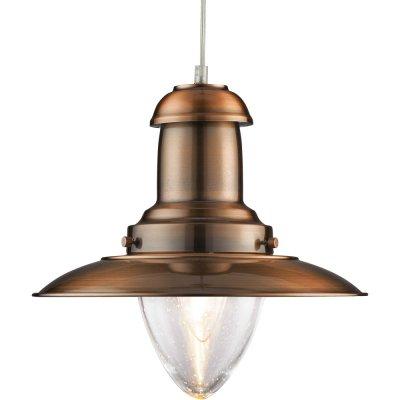 Подвесной светильник Arte lamp A5530SP-1RB FishermanПодвесные<br>Компания «Светодом» предлагает широкий ассортимент люстр от известных производителей. Представленные в нашем каталоге товары выполнены из современных материалов и обладают отличным качеством. Благодаря широкому ассортименту Вы сможете найти у нас люстру под любой интерьер. Мы предлагаем как классические варианты, так и современные модели, отличающиеся лаконичностью и простотой форм.  Стильная люстра Arte lamp A5530SP-1RB станет украшением любого дома. Эта модель от известного производителя не оставит равнодушным ценителей красивых и оригинальных предметов интерьера. Люстра Arte lamp A5530SP-1RB обеспечит равномерное распределение света по всей комнате. При выборе обратите внимание на характеристики, позволяющие приобрести наиболее подходящую модель.  Купить понравившуюся люстру по доступной цене Вы можете в интернет-магазине «Светодом».<br><br>Установка на натяжной потолок: Да<br>S освещ. до, м2: 5<br>Крепление: Планка<br>Тип лампы: накаливания / энергосбережения / LED-светодиодная<br>Тип цоколя: E27<br>Количество ламп: 1<br>MAX мощность ламп, Вт: 100<br>Диаметр, мм мм: 320<br>Длина цепи/провода, мм: 890<br>Высота, мм: 310<br>Оттенок (цвет): прозрачный серебристый<br>Цвет арматуры: бронзовый