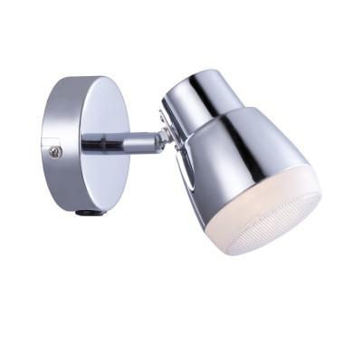 A5621AP-1CC Arte lamp СветильникОдиночные<br><br><br>Цветовая t, К: 3000K<br>Тип цоколя: LED<br>Цвет арматуры: Серебристый хром<br>Количество ламп: 1<br>Диаметр, мм мм: 90<br>Длина, мм: 80<br>Высота, мм: 110<br>MAX мощность ламп, Вт: 5W<br>Общая мощность, Вт: 5W
