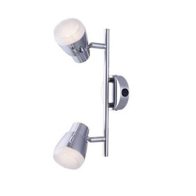 A5621AP-2CC Arte lamp СветильникДвойные<br><br><br>S освещ. до, м2: 4<br>Цветовая t, К: 3000K<br>Тип цоколя: LED<br>Цвет арматуры: Серебристый хром<br>Количество ламп: 2<br>Диаметр, мм мм: 90<br>Длина, мм: 310<br>Высота, мм: 110<br>MAX мощность ламп, Вт: 5W<br>Общая мощность, Вт: 10W