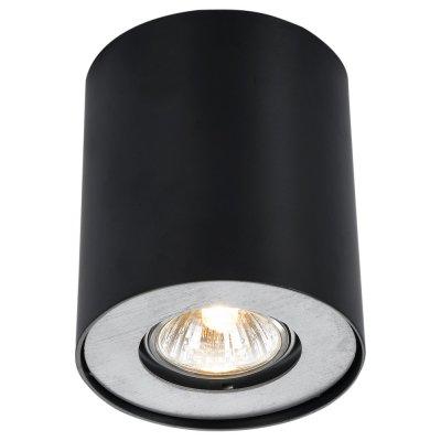 Светильник черный Arte lamp A5633PL-1BK FalconКруглые<br><br><br>Тип товара: Светильник черный<br>Тип лампы: галогенная/LED<br>Тип цоколя: GU10<br>Количество ламп: 1<br>MAX мощность ламп, Вт: 50<br>Диаметр, мм мм: 110<br>Высота, мм: 130<br>Цвет арматуры: черный