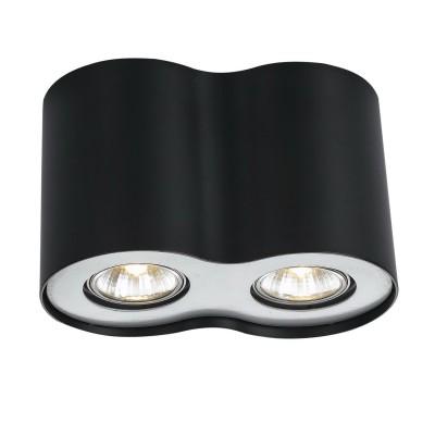 Светильник Arte lamp A5633PL-2BK FalconДекоративные<br>Встраиваемые светильники – популярное осветительное оборудование, которое можно использовать в качестве основного источника или в дополнение к люстре. Они позволяют создать нужную атмосферу атмосферу и привнести в интерьер уют и комфорт. <br> Интернет-магазин «Светодом» предлагает стильный встраиваемый светильник ARTE Lamp A5633PL-2BK. Данная модель достаточно универсальна, поэтому подойдет практически под любой интерьер. Перед покупкой не забудьте ознакомиться с техническими параметрами, чтобы узнать тип цоколя, площадь освещения и другие важные характеристики. <br> Приобрести встраиваемый светильник ARTE Lamp A5633PL-2BK в нашем онлайн-магазине Вы можете либо с помощью «Корзины», либо по контактным номерам. Мы развозим заказы по Москве, Екатеринбургу и остальным российским городам.<br><br>Тип лампы: галогенная/LED<br>Тип цоколя: GU10<br>Цвет арматуры: черный<br>Количество ламп: 2<br>Ширина, мм: 110<br>Длина, мм: 200<br>Высота, мм: 130<br>MAX мощность ламп, Вт: 50