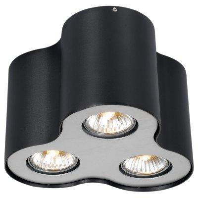 Светильник Arte lamp A5633PL-3BK FalconДекоративные точечные светильники<br>Встраиваемые светильники – популярное осветительное оборудование, которое можно использовать в качестве основного источника или в дополнение к люстре. Они позволяют создать нужную атмосферу атмосферу и привнести в интерьер уют и комфорт. <br> Интернет-магазин «Светодом» предлагает стильный встраиваемый светильник ARTE Lamp A5633PL-3BK. Данная модель достаточно универсальна, поэтому подойдет практически под любой интерьер. Перед покупкой не забудьте ознакомиться с техническими параметрами, чтобы узнать тип цоколя, площадь освещения и другие важные характеристики. <br> Приобрести встраиваемый светильник ARTE Lamp A5633PL-3BK в нашем онлайн-магазине Вы можете либо с помощью «Корзины», либо по контактным номерам. Мы развозим заказы по Москве, Екатеринбургу и остальным российским городам.<br><br>Тип лампы: галогенная/LED<br>Тип цоколя: GU10<br>Цвет арматуры: черный<br>Количество ламп: 3<br>Диаметр, мм мм: 220<br>Высота, мм: 150<br>MAX мощность ламп, Вт: 50