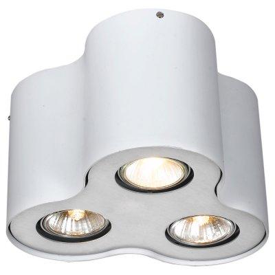 Светильник Arte lamp A5633PL-3WH FalconДекоративные<br>Встраиваемые светильники – популярное осветительное оборудование, которое можно использовать в качестве основного источника или в дополнение к люстре. Они позволяют создать нужную атмосферу атмосферу и привнести в интерьер уют и комфорт.   Интернет-магазин «Светодом» предлагает стильный встраиваемый светильник ARTE Lamp A5633PL-3WH. Данная модель достаточно универсальна, поэтому подойдет практически под любой интерьер. Перед покупкой не забудьте ознакомиться с техническими параметрами, чтобы узнать тип цоколя, площадь освещения и другие важные характеристики.   Приобрести встраиваемый светильник ARTE Lamp A5633PL-3WH в нашем онлайн-магазине Вы можете либо с помощью «Корзины», либо по контактным номерам. Мы развозим заказы по Москве, Екатеринбургу и остальным российским городам.<br><br>Тип лампы: галогенная/LED<br>Тип цоколя: GU10<br>Количество ламп: 3<br>MAX мощность ламп, Вт: 50<br>Диаметр, мм мм: 220<br>Высота, мм: 150<br>Цвет арматуры: белый