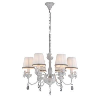 A5656LM-6WG Arte lamp СветильникПодвесные<br><br><br>Установка на натяжной потолок: Да<br>S освещ. до, м2: 12<br>Крепление: крюк<br>Тип лампы: Накаливания / энергосбережения / светодиодная<br>Тип цоколя: E14<br>Цвет арматуры: белый-ЗОЛОТОЙ<br>Количество ламп: 6<br>Диаметр, мм мм: 610<br>Длина цепи/провода, мм: 600<br>Размеры: D610H410-1100<br>Длина, мм: 610<br>Высота, мм: 410<br>MAX мощность ламп, Вт: 40W<br>Общая мощность, Вт: 40W