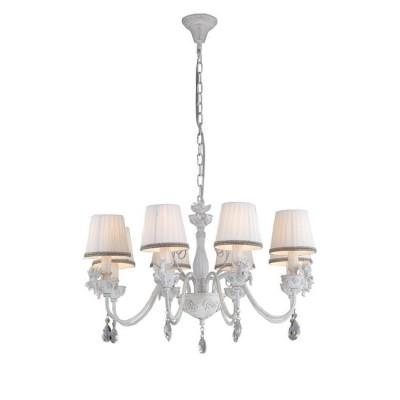 A5656LM-8WG Arte lamp СветильникПодвесные<br><br><br>Установка на натяжной потолок: Да<br>S освещ. до, м2: 16<br>Крепление: крюк<br>Тип лампы: Накаливания / энергосбережения / светодиодная<br>Тип цоколя: E14<br>Цвет арматуры: белый-ЗОЛОТОЙ<br>Количество ламп: 8<br>Диаметр, мм мм: 740<br>Длина цепи/провода, мм: 600<br>Размеры: D740H410-1100<br>Длина, мм: 740<br>Высота, мм: 420<br>MAX мощность ламп, Вт: 40W<br>Общая мощность, Вт: 40W