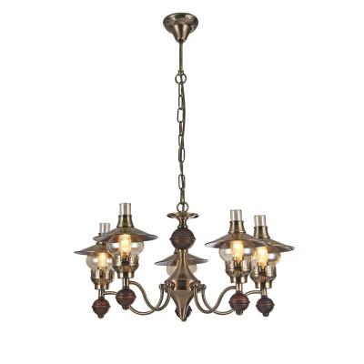 A5664LM-5AB Arte lamp СветильникПодвесные<br><br><br>Установка на натяжной потолок: Да<br>S освещ. до, м2: 15<br>Крепление: крюк<br>Тип лампы: Накаливания / энергосбережения / светодиодная<br>Тип цоколя: E14<br>Цвет арматуры: античный бронзовый<br>Количество ламп: 5<br>Диаметр, мм мм: 660<br>Длина цепи/провода, мм: 600<br>Размеры: D660H350-950<br>Длина, мм: 660<br>Высота, мм: 350<br>MAX мощность ламп, Вт: 60W<br>Общая мощность, Вт: 40W