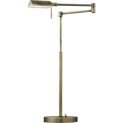 Светильник Arte lamp A5665LT-1AB WizardХай тек<br>Настольная лампа – это не просто источник дополнительного освещения, но и оригинальный элемент декора. Его можно установить в спальне, гостиной, кабинете и других комнатах. Интернет-магазин «Светодом» предлагает настольные лампы разных стилей по доступным ценам. Благодаря большому ассортименту Вы обязательно найдете в нашем каталоге именно ту модель, которую искали. <br> Настольная лампа Arte lamp A5665LT-1AB – прекрасный вариант для завершения интерьера. Ее можно включить одновременно с люстрой для более яркого освещения или без нее для создания уютной атмосферы, настраивающей на отдых. <br> Купить настольную лампу Arte lamp A5665LT-1AB Вы можете с помощью виртуальной «Корзины» или по контактным номерам, указанным на сайте.<br><br>Тип лампы: галогенная / LED-светодиодная<br>Тип цоколя: G9<br>MAX мощность ламп, Вт: 33<br>Диаметр, мм мм: 170<br>Высота, мм: 420 - 580<br>Цвет арматуры: бронзовый