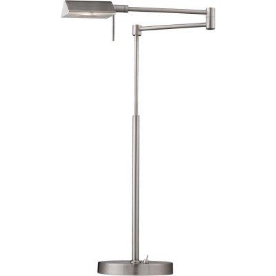 Светильник Arte lamp A5665LT-1SS WizardХай тек<br>Настольная лампа – это не просто источник дополнительного освещения, но и оригинальный элемент декора. Его можно установить в спальне, гостиной, кабинете и других комнатах. Интернет-магазин «Светодом» предлагает настольные лампы разных стилей по доступным ценам. Благодаря большому ассортименту Вы обязательно найдете в нашем каталоге именно ту модель, которую искали.   Настольная лампа Arte lamp A5665LT-1SS – прекрасный вариант для завершения интерьера. Ее можно включить одновременно с люстрой для более яркого освещения или без нее для создания уютной атмосферы, настраивающей на отдых.   Купить настольную лампу Arte lamp A5665LT-1SS Вы можете с помощью виртуальной «Корзины» или по контактным номерам, указанным на сайте.<br><br>Тип товара: Настольная лампа<br>Скидка, %: 28<br>Тип лампы: галогенная / LED-светодиодная<br>Тип цоколя: G9<br>MAX мощность ламп, Вт: 33<br>Диаметр, мм мм: 170<br>Высота, мм: 420 - 580<br>Цвет арматуры: серый