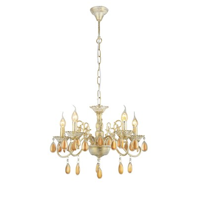 A5676LM-5WG Arte lamp СветильникПодвесные<br><br><br>Установка на натяжной потолок: Да<br>S освещ. до, м2: 15<br>Крепление: крюк<br>Тип лампы: Накаливания / энергосбережения / светодиодная<br>Тип цоколя: E14<br>Цвет арматуры: белый-ЗОЛОТОЙ<br>Количество ламп: 5<br>Диаметр, мм мм: 600<br>Длина цепи/провода, мм: 600<br>Размеры: D600H400-1000<br>Длина, мм: 600<br>Высота, мм: 400<br>MAX мощность ламп, Вт: 60W<br>Общая мощность, Вт: 40W