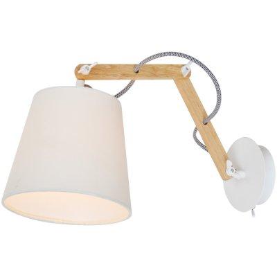 Светильник бра на штанге Arte lamp A5700AP-1WH PinoccioНа штанге<br><br><br>S освещ. до, м2: 2<br>Тип лампы: накаливания / энергосбережения / LED-светодиодная<br>Тип цоколя: E14<br>Цвет арматуры: белый<br>Количество ламп: 1<br>Ширина, мм: 170<br>Длина, мм: 560<br>Высота, мм: 350<br>Оттенок (цвет): белый<br>MAX мощность ламп, Вт: 40