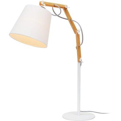 Интерьерная настольная лампа Arte lamp A5700LT-1WH PinoccioДеревянные и ротанг<br>Настольная лампа – это не просто источник дополнительного освещения, но и оригинальный элемент декора. Его можно установить в спальне, гостиной, кабинете и других комнатах. Интернет-магазин «Светодом» предлагает настольные лампы разных стилей по доступным ценам. Благодаря большому ассортименту Вы обязательно найдете в нашем каталоге именно ту модель, которую искали.   Настольная лампа Arte lamp A5700LT-1WH – прекрасный вариант для завершения интерьера. Ее можно включить одновременно с люстрой для более яркого освещения или без нее для создания уютной атмосферы, настраивающей на отдых.   Купить настольную лампу Arte lamp A5700LT-1WH Вы можете с помощью виртуальной «Корзины» или по контактным номерам, указанным на сайте.<br><br>S освещ. до, м2: 3<br>Тип лампы: накаливания / энергосбережения / LED-светодиодная<br>Тип цоколя: E27<br>Количество ламп: 1<br>Ширина, мм: 200<br>MAX мощность ламп, Вт: 60<br>Длина, мм: 550<br>Высота, мм: 630<br>Оттенок (цвет): белый<br>Цвет арматуры: белый