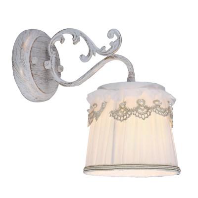 A5709AP-1WG Arte lamp СветильникКлассические<br><br><br>Крепление: Планка<br>Тип цоколя: E14<br>Количество ламп: 1<br>MAX мощность ламп, Вт: 40W<br>Диаметр, мм мм: 140<br>Размеры: W140E250H220<br>Длина, мм: 250<br>Высота, мм: 220<br>Цвет арматуры: белый-ЗОЛОТОЙ<br>Общая мощность, Вт: 40W