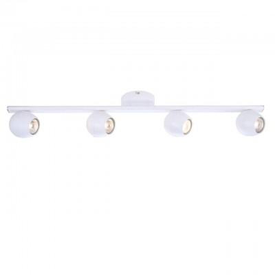 Светильник потолочный Arte lamp A5781PL-4WH SFERAС 4 лампами<br>Светильники-споты – это оригинальные изделия с современным дизайном. Они позволяют не ограничивать свою фантазию при выборе освещения для интерьера. Такие модели обеспечивают достаточно качественный свет. Благодаря компактным размерам Вы можете использовать несколько спотов для одного помещения.  Интернет-магазин «Светодом» предлагает необычный светильник-спот ARTE Lamp A5781PL-4WH по привлекательной цене. Эта модель станет отличным дополнением к люстре, выполненной в том же стиле. Перед оформлением заказа изучите характеристики изделия.  Купить светильник-спот ARTE Lamp A5781PL-4WH в нашем онлайн-магазине Вы можете либо с помощью формы на сайте, либо по указанным выше телефонам. Обратите внимание, что у нас склады не только в Москве и Екатеринбурге, но и других городах России.<br><br>Тип цоколя: GU10<br>Количество ламп: 4<br>MAX мощность ламп, Вт: 50<br>Размеры: H14xW11xL81<br>Цвет арматуры: белый