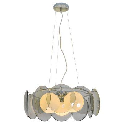 Светильник Arte lamp A5831SP-3CC PalmerПодвесные<br>Компания «Светодом» предлагает широкий ассортимент люстр от известных производителей. Представленные в нашем каталоге товары выполнены из современных материалов и обладают отличным качеством. Благодаря широкому ассортименту Вы сможете найти у нас люстру под любой интерьер. Мы предлагаем как классические варианты, так и современные модели, отличающиеся лаконичностью и простотой форм.  Стильная люстра Arte lamp A5831SP-3CC станет украшением любого дома. Эта модель от известного производителя не оставит равнодушным ценителей красивых и оригинальных предметов интерьера. Люстра Arte lamp A5831SP-3CC обеспечит равномерное распределение света по всей комнате. При выборе обратите внимание на характеристики, позволяющие приобрести наиболее подходящую модель. Купить понравившуюся люстру по доступной цене Вы можете в интернет-магазине «Светодом».<br><br>Установка на натяжной потолок: Да<br>S освещ. до, м2: 9<br>Крепление: Крюк<br>Тип цоколя: E27<br>Количество ламп: 3<br>MAX мощность ламп, Вт: 60<br>Диаметр, мм мм: 510<br>Высота, мм: 180<br>Цвет арматуры: серебристый хром